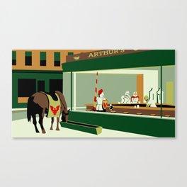 Knight Hawks Canvas Print