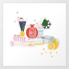 Winter Food Art Print