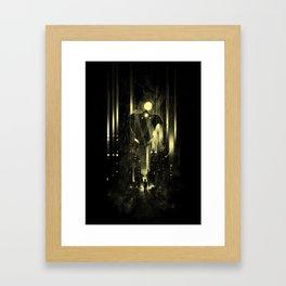 Giant robot and the kid Framed Art Print