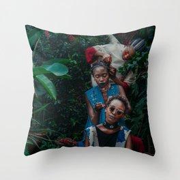 Chain Fairies Throw Pillow