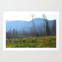montana Art Prints featuring Montana by MelissaLaDouxPhoto