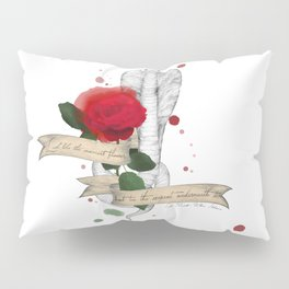 Shakespeare Quote (Flower and Serpent) Pillow Sham