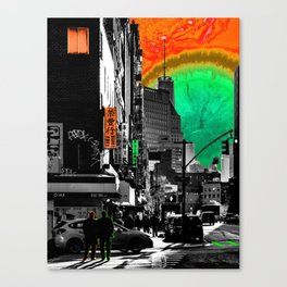 SynchroniCity - Meaningful Psychedelic Collage of NYC Canvas Print