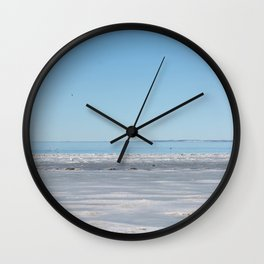 Fond du Lac winter beach Wall Clock