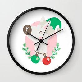 Christmas llama Wall Clock