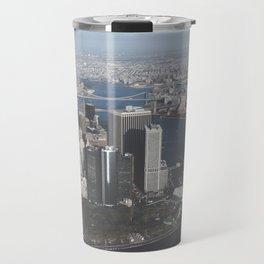 NYC Downtown Aerial Travel Mug