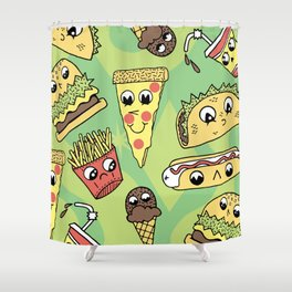 Snack Attack! Shower Curtain