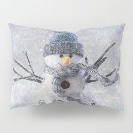 Cute snowman frozen freeze Pillow Sham