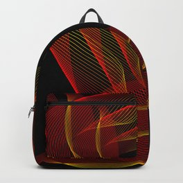 Fire background. The red-orange glow to go pattern background. Backpack