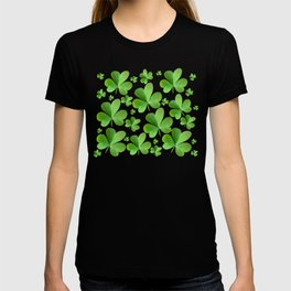 Clovers on Black T-shirt