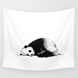 Sleepy Panda Wall Tapestry