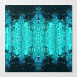 Aqua and Green Turtle Plate Canvas Print