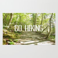 hiking Area & Throw Rugs featuring Go Hiking by Jennifer Kimberly