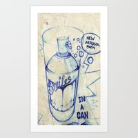 smiles in a can Art Print