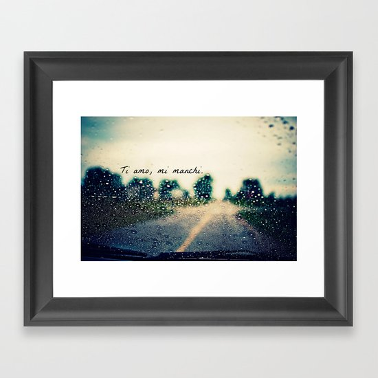 i love you, i miss you.  Framed Art Print