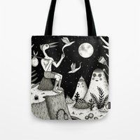 chad wys Tote Bags featuring His Destiny Was Written in the Night Sky by Jon MacNair