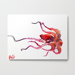 Octopus Artwork Home Decor Painting Metal Print