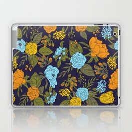 Blue, Turquoise, Green, Orange & Yellow Floral/Botanical Pattern Laptop & iPad Skin