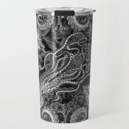 The Kraken (Black & White, Square) Travel Mug