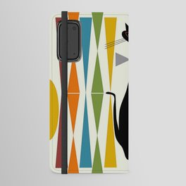 Mid-Century Modern Art Cat 2 Android Wallet Case