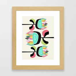 Joyful Plants Framed Art Print