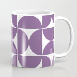 Medium violet mid century shapes Coffee Mug