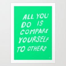 COMPARE Art Print