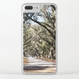 Entering Wormsloe Plantation Clear iPhone Case