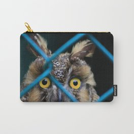 abstract photo of long earred owl through chain link fence Carry-All Pouch