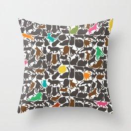 Cats! Throw Pillow