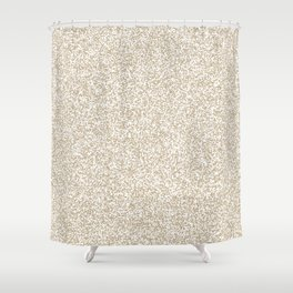 Spacey Melange - White and Khaki Brown Shower Curtain