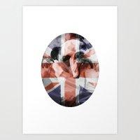 british flag Art Prints featuring British Bulldog Flag by FearlessClothing