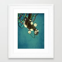 glados Framed Art Prints featuring GlaDos by keygrin