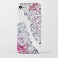 liverpool iPhone & iPod Cases featuring Liverpool map by MapMapMaps.Watercolors