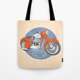 Retro bike JAWA Tote Bag
