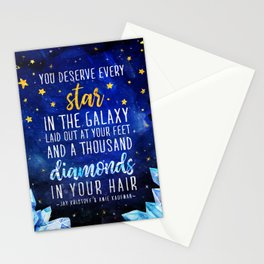 Star and Diamonds Stationery Cards