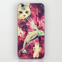 saga iPhone & iPod Skins featuring Galactic Cats Saga 2 by Carolina Nino