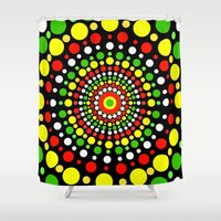 rasta Shower Curtains featuring Rasta by Liqrush