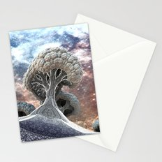 Broccoli Planet in Winter Stationery Cards