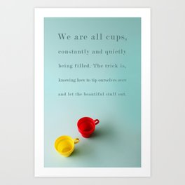 Constantly and Quietly Art Print