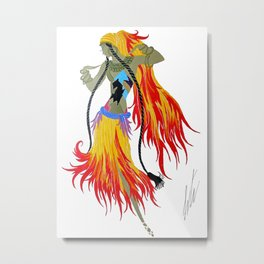 "1920's Art Deco Illustration ""Gypsy Dancer"" Metal Print"
