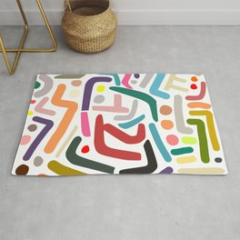 Line Drawing Pattern Rug