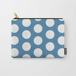 Large Polka Dots on Blue Carry-All Pouch