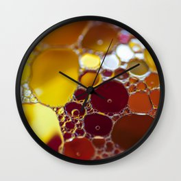 Colourful bubbles Wall Clock