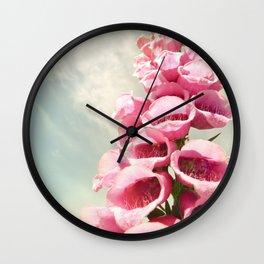 Foxgloves Washington Northwest Forest Wall Clock