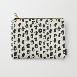 Tribal Spot Black Earth on Ivory Carry-All Pouch