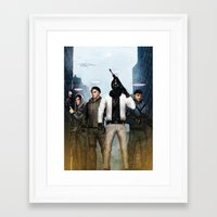 youtube Framed Art Prints featuring Youtube Gamers by Meder Taab