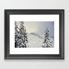 Cold Weather Fun Framed Art Print