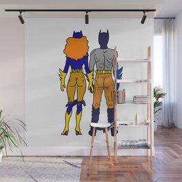Superhero Butts Love 4 - Bats Wall Mural
