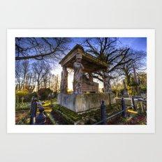 Kensal Green Cemetery London Art Print